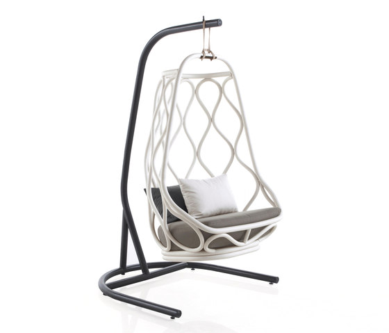 Nautica outdoor Swing chair with base by Expormim | Garden armchairs