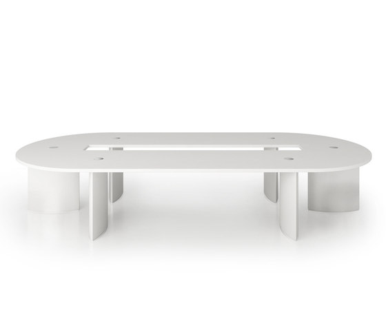 C5 Flexible conference table system by Holzmedia | Conference tables