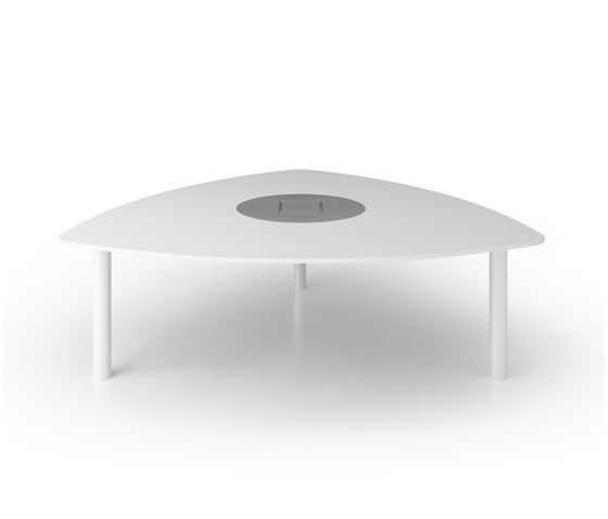 C7 Triangular table by Holzmedia | Multimedia conference tables