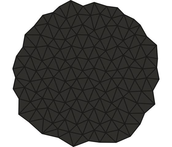 Glacies Rug Dark Grey Round by Artisan | Rugs / Designer rugs