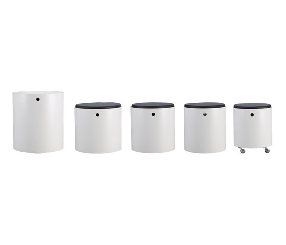 Party Set White | Table and Chairs by Verpan | Multipurpose stools