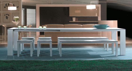 Mar de Aluminio Mesas extensibles de Sistema Midi | Mesas de comedor de jardín