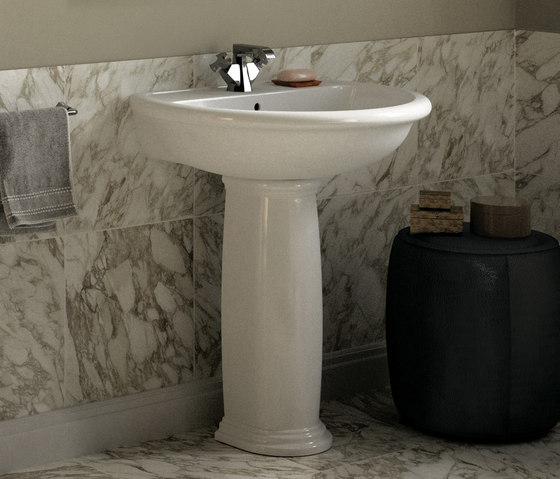 Fidia basin by Ceramica Flaminia | Wash basins