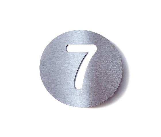 radius house number by Radius Design | Numerals