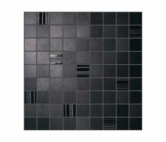 Sublime Ebony Mosaic Square von Atlas Concorde | Keramik Mosaike