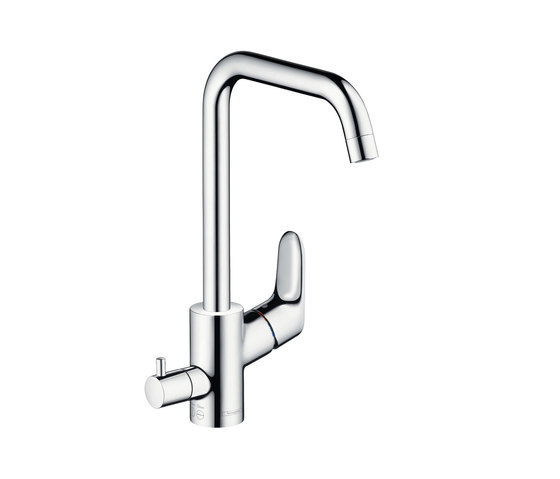 hansgrohe Focus Single lever kitchen mixer 260 with device shut-off valve by Hansgrohe | Kitchen taps