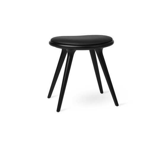 Low Stool - Black Stained Beech - 47 cm di Mater | Sgabelli