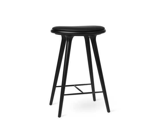 High Stool - Black Stained Beech - 69 cm by Mater | Bar stools