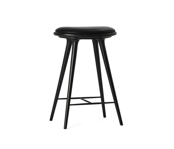 High Stool black stained hardwood 69 by Mater | Bar stools
