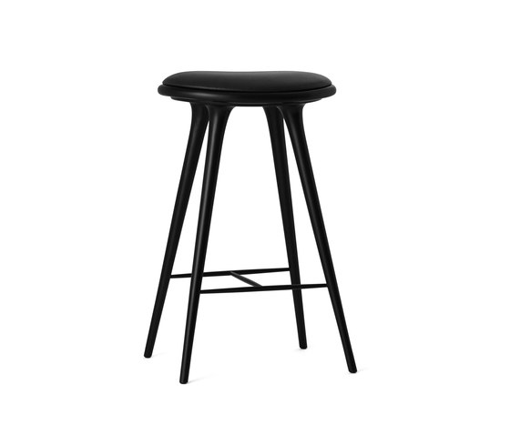 High Stool black stained hardwood 74 de Mater | Taburetes de bar