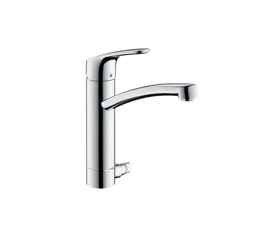 hansgrohe Focus Single lever kitchen mixer 200 with device shut-off valve by Hansgrohe | Kitchen taps