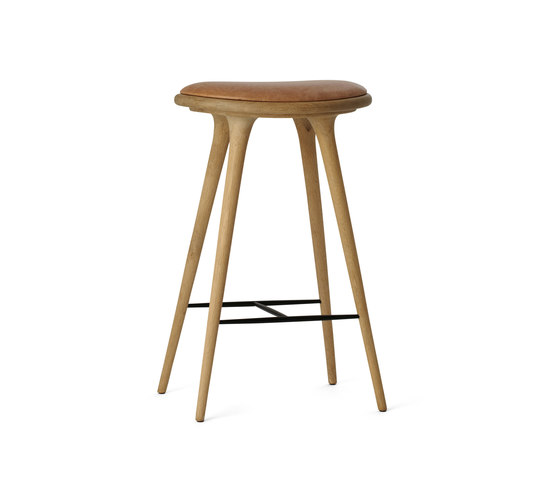 High Stool soaped oak 74 von Mater | Barhocker