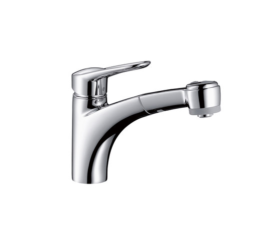 Hansgrohe Metropol E Single Lever Kitchen Mixer DN15 with pull-out spray by Hansgrohe | Kitchen taps