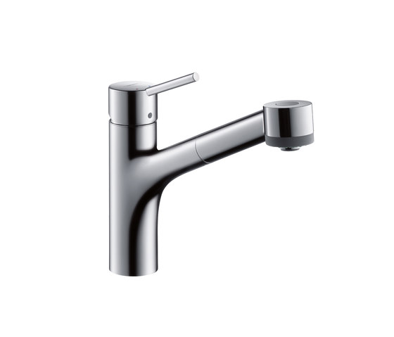 Hansgrohe Talis S Single Lever Kitchen Mixer DN15 with pull-out spray for vented hot water cylinders by Hansgrohe | Kitchen taps