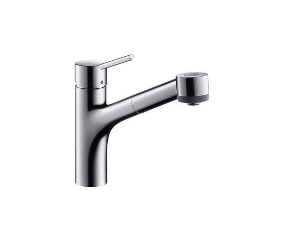 hansgrohe Talis S Mezclador monomando de cocina con ducha extraíble para calentadores de agua abiertos de Hansgrohe | Griferías de cocina
