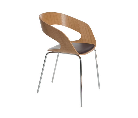 Chat 4-leg chair by Plycollection | Visitors chairs / Side chairs