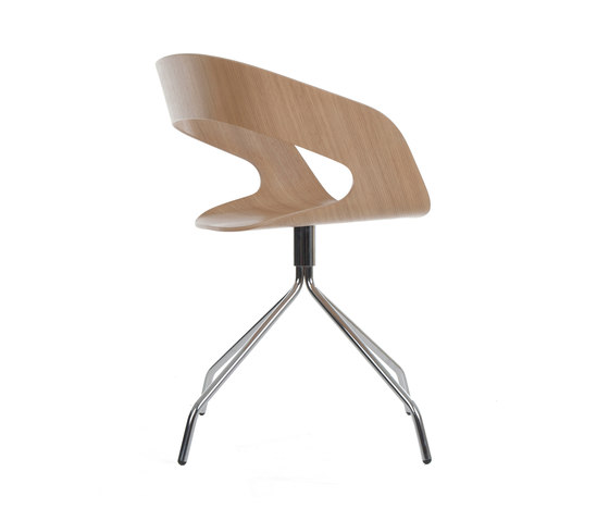 Chat swivel chair by Plycollection | Visitors chairs / Side chairs