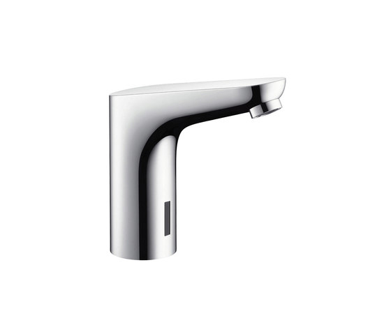 hansgrohe Focus Electronic basin mixer with temperature pre-adjustment with 230 V mains connection by Hansgrohe | Wash basin taps