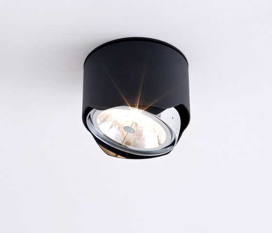 Solid recessed QR111 black by Wever & Ducré | General lighting