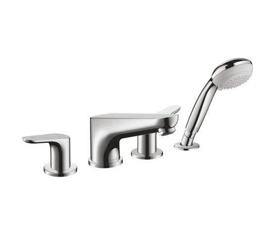 hansgrohe Focus 4-hole rim mounted bath mixer by Hansgrohe | Bath taps