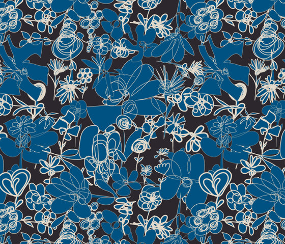 Blümchen I Wiese | col1 by Sabine Röhse | Bespoke fabrics