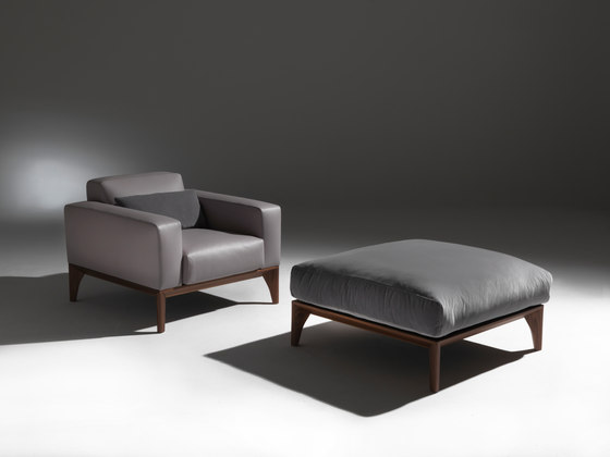 fellow easychair and pouf de Porada | Sillones
