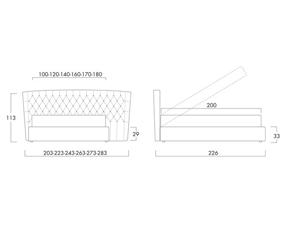 Selene large by Bolzan Letti | Double beds