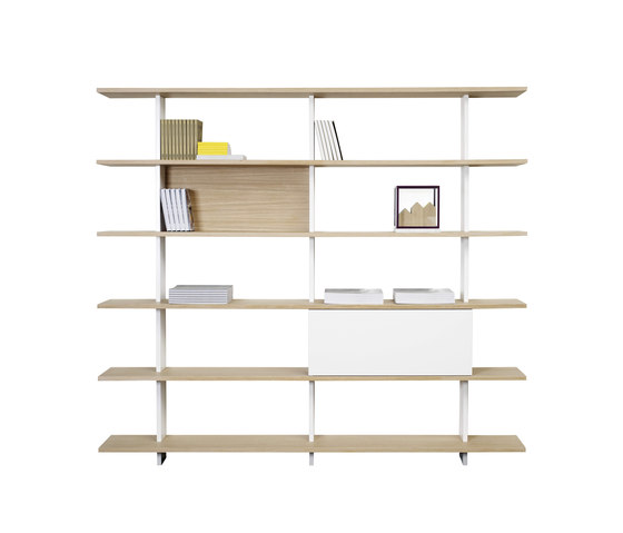 Proust Bookshelf P750F 3x7 by ASPLUND | Office shelving systems