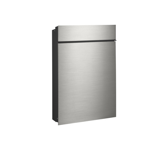 Flat letterbox   stainless steel by Serafini   Mailboxes