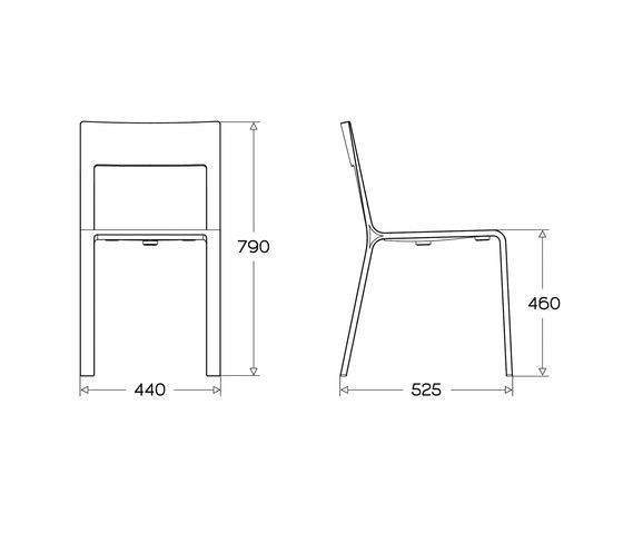 Frame chair von Plycollection | Mehrzweckstühle