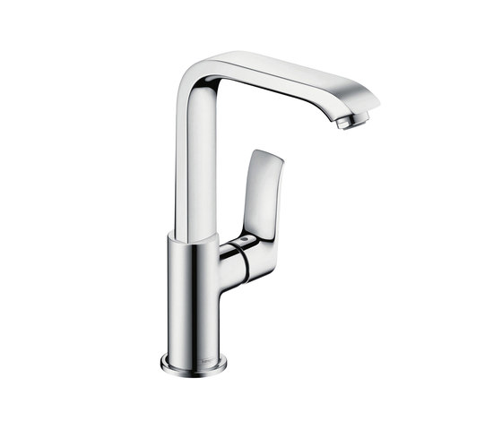 hansgrohe Metris Single lever basin mixer 230 with push-open waste set by Hansgrohe | Wash basin taps