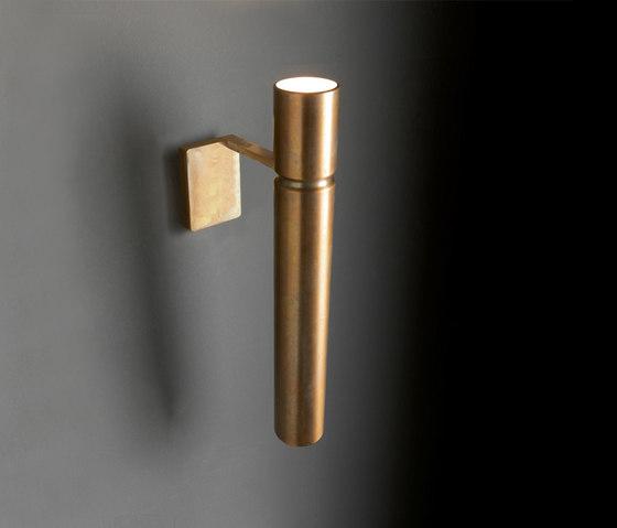 Tubular Light by HENGE | Wall lights in brass