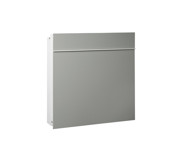 Flat Wide letterbox   steel by Serafini   Mailboxes