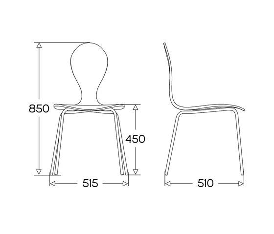 Pyt chair laminate de Plycollection | Chaises polyvalentes