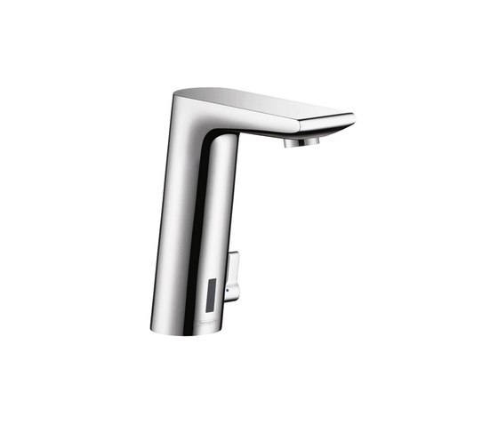 hansgrohe Metris S Electronic basin mixer with temperature control with 230 V mains connection by Hansgrohe | Wash basin taps
