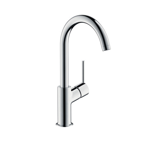 hansgrohe Talis Single lever basin mixer 210 with push-open waste set and swivel spout with 120° range by Hansgrohe | Wash basin taps