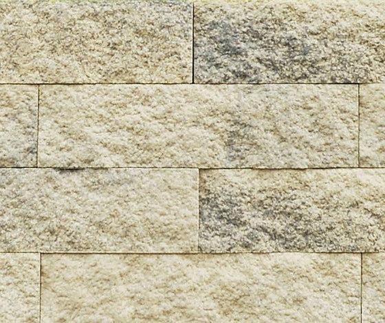 Muretto Mauersystem beige-grau gemasert (CF90) by Metten | Garden edging