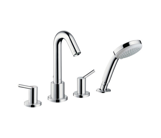 hansgrohe Talis 4-hole rim mounted bath mixer by Hansgrohe | Bath taps