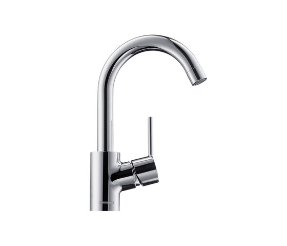 hansgrohe Talis S Single lever basin mixer with pop-up waste set and swivel spout with 360° range by Hansgrohe | Wash basin taps