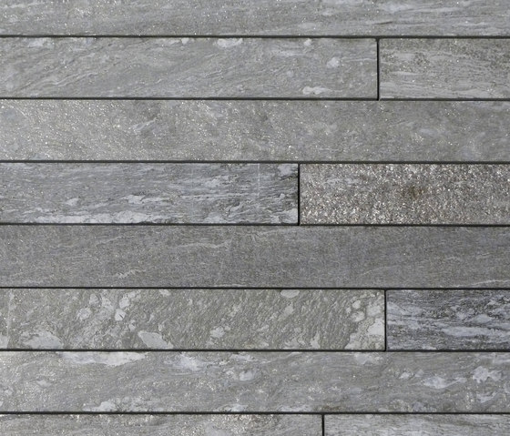 Valser Quarzit Steinparkett in 6-8 cm Breite, samtiert® by Metten | Tiles