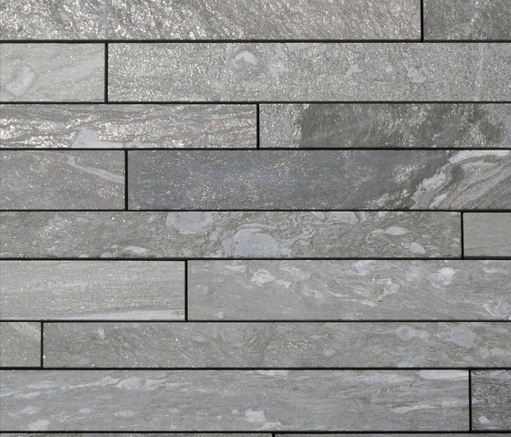 Valser Quarzit Steinparkett in 10-12 cm Breite, samtiert® by Metten | Tiles