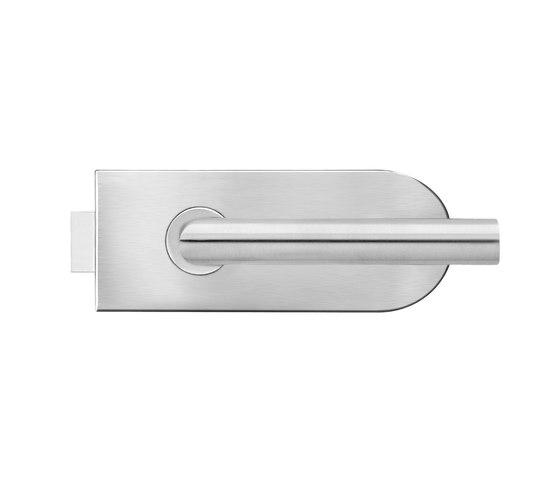 Glass door fitting EGS120 (71) by Karcher Design | Lever handles for glass doors