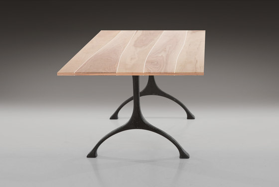Tabletop Walnut with maple inlay by Boleform | Tabletops