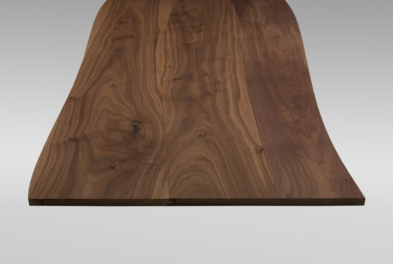 Solid surface Walnut non-beveled by Boleform | Facing panels