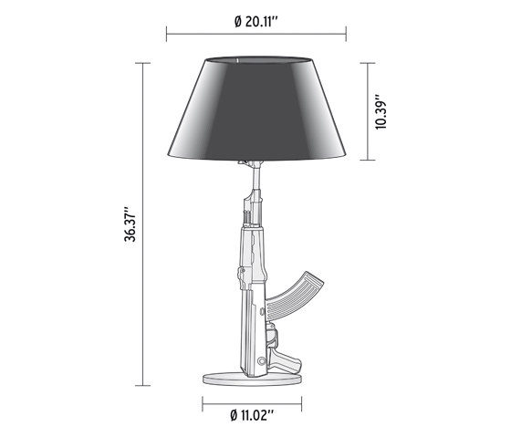 Gun Bedside by Flos | General lighting