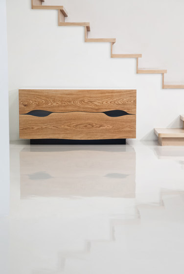 Cajón | Roble Aparador biselado de Boleform | Chapas de madera