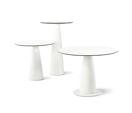Hoplà Round Top by Slide | Bar tables