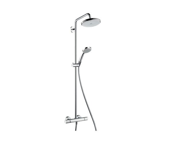 hansgrohe Croma 220 Air 1jet Showerpipe by Hansgrohe | Shower taps / mixers