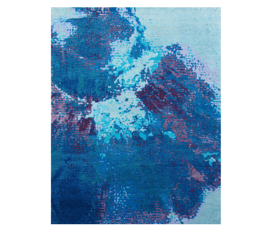 Sin Titulo 3 Blu Mauve by Living Divani | Rugs / Designer rugs