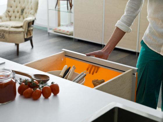 Meccanica textile by Valcucine | Island kitchens